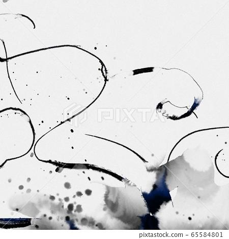 抽象的東方水彩紋理,圓圈,彩虹,黑白,不規則點 65584801