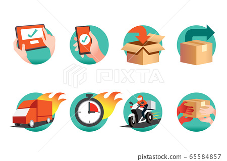 Online shopping service through the application and can check the delivery quickly. 65584857