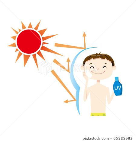 어린이 수영복 선탠 05 상반신 65585992