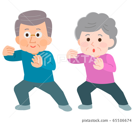 太極拳老年男女插圖 65586674