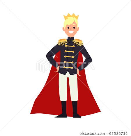 Happy Cartoon Man In King Costume Royal Stock Illustration 65586732 Pixta Avatar man cartoon with crown design, boy male person people human social media and portrait theme vector. https www pixtastock com illustration 65586732