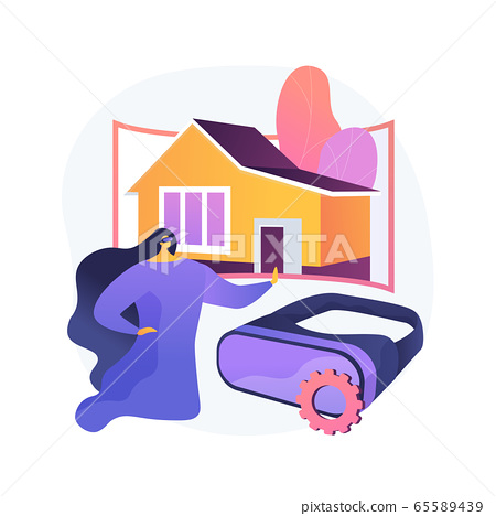 Real estate virtual tour abstract concept vector illustration. 65589439