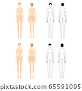 Fashion template of standing women.  65591095