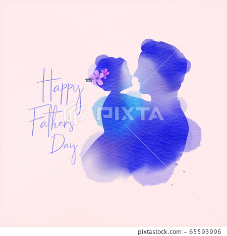 Happy father's day. Side view of Happy family 65593996