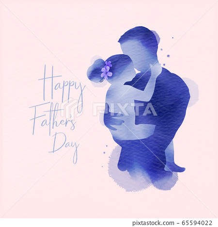 Happy father's day.  Happy family daughter hugging 65594022