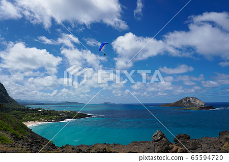 View point of Hawaii from Cape Makapuu 65594720