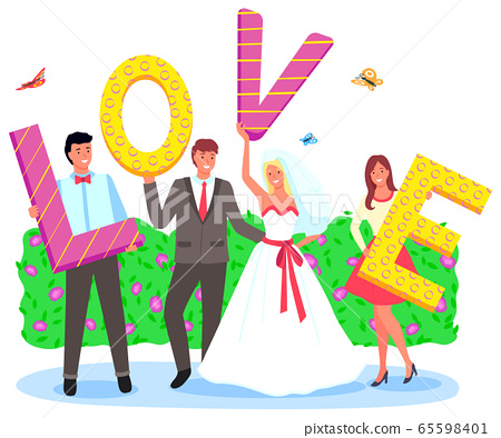 Photo of Wife and Husband, Wedding Day Vector 65598401