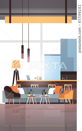 empty coworking space modern office room interior creative workspace vertical flat 65599281