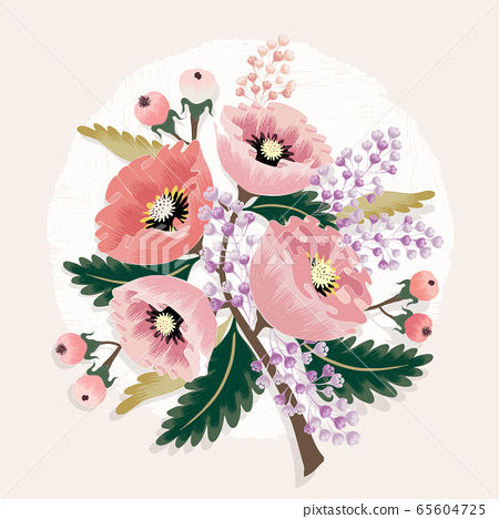 Vector illustration of a floral bouquet in spring 65604725