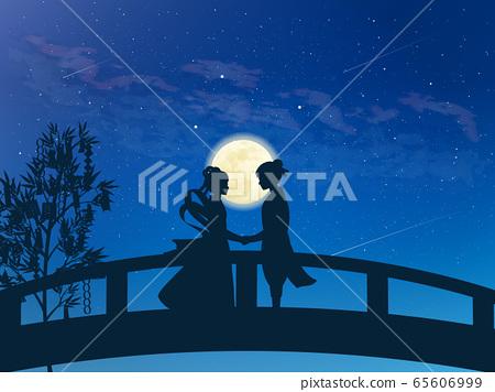七夕折姬和彥越的團圓風景插圖 65606999