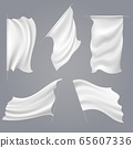 Realistic white flag mockups 65607336