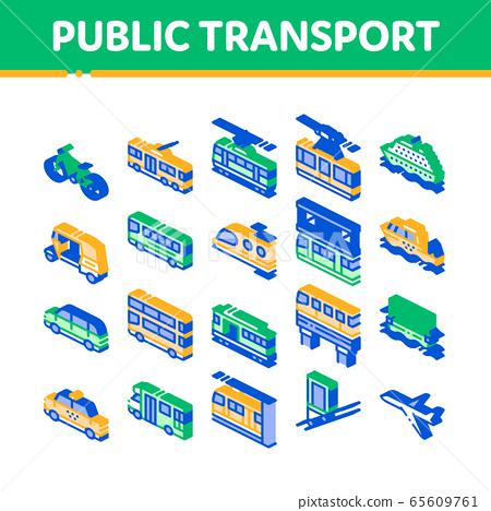 Public Transport Vector Isometric Set 65609761