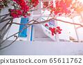 Narrow streets of Paros island city. Greece. 65611762
