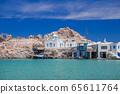 Traditional fishing village on Aegean sea, Greece 65611764
