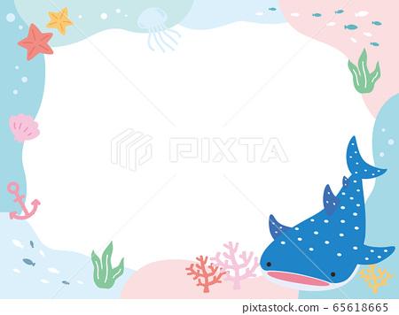 POP旁的可愛鯨鯊海框架 65618665