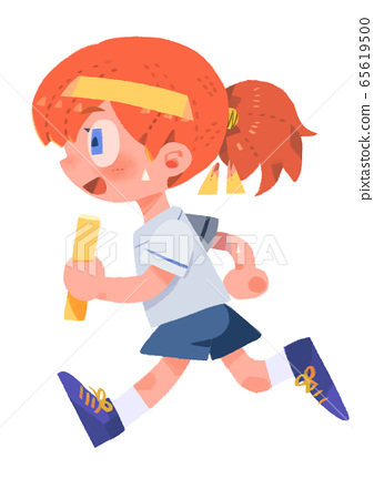 Relay runner girl without main line 65619500