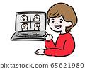 遠程工作女性對話 65621980