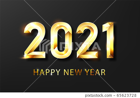 Happy new year 2021 banner.Golden Vector luxury text 2021 Happy new year. Gold Festive Numbers Design. Happy New Year Banner with 2021 Numbers .Vector illusration 65623728
