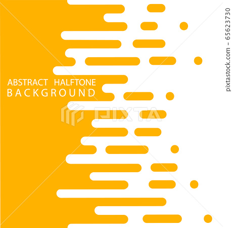 Abstract yellow Halftone Rounded Lines Halftone Transition. Vector Background. Abstract concept . Vector illusration 65623730