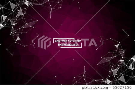 Abstract Purple Polygonal Space Background with 65627150