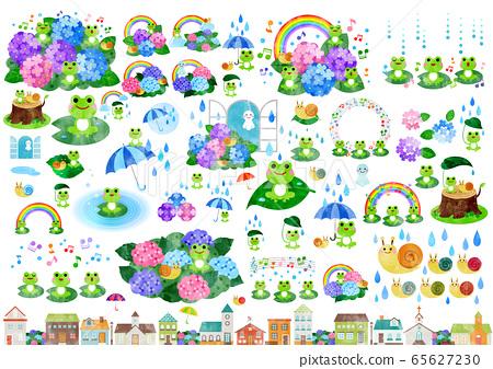 雨季插圖水彩 65627230