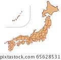 일본지도의 일러스트 65628531