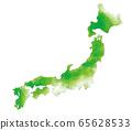 수채화 일본지도 65628533
