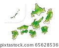 수채화 일본지도 65628536