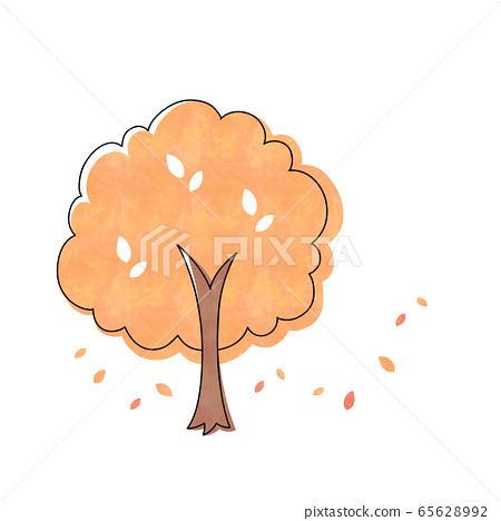 Autumn leaves tree 65628992