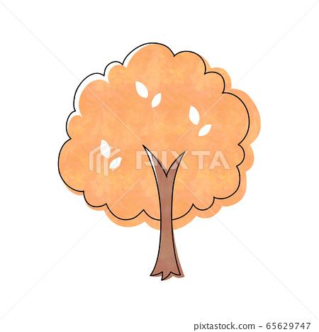 Autumn leaves tree 65629747