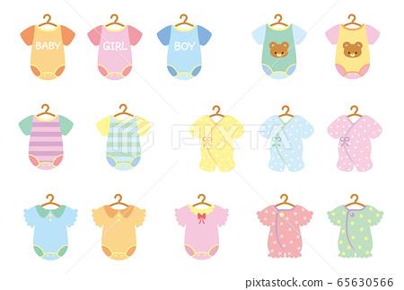 嬰兒衣服圖標(帶衣架) 65630566