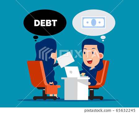 Business loan agreement. Money and Currency 65632245