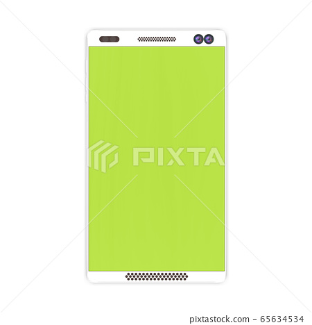 3d rendering of Mobile phone icon isolated on 65634534