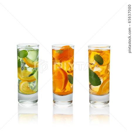 Summer fruit cocktails. 65637080
