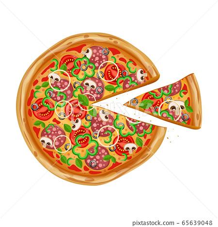 Pizza italian fast food 65639048