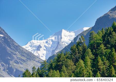 從瑞士看到的阿爾卑斯山 65640324