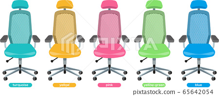 Office chair (mesh) front with headrest 5 colors 65642054