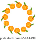 Wreath from bright peach fruit with space for 65644498