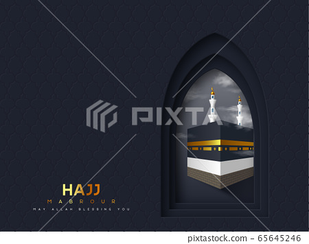 Hajj Mabrour vector banner. 65645246