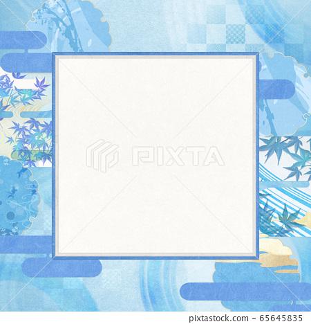 일본식 배경 소재 - 청량감 - 종이 - 여름 - 水紋 - 파문 65645835