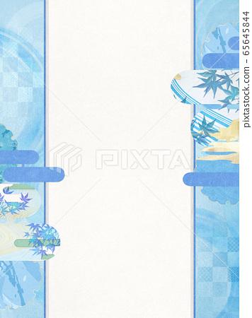 일본식 배경 소재 - 청량감 - 종이 - 여름 - 水紋 - 파문 65645844