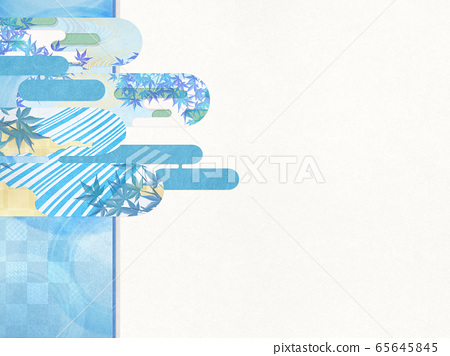 Japanese style background material-Cool feeling-Japanese paper-Summer-Water ripple-Ripples 65645845