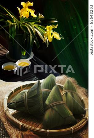 端午粽中国茶 65648263
