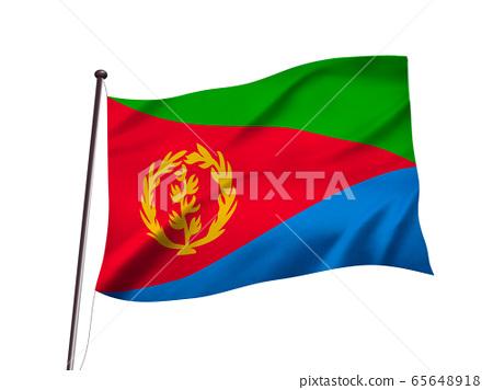 에리트레아 국기의 이미지, 3d 일러스트 65648918