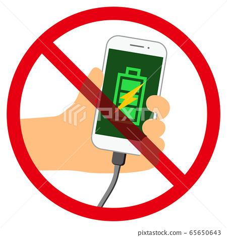 智能手機充電禁止標記 65650643