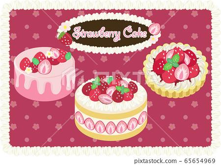 Strawberry cake 65654969