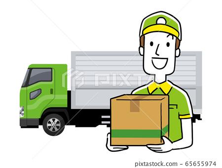 圖庫插圖:運輸送貨員 65655974