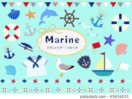 海洋圖案集 65656035