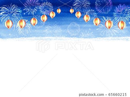 등불 축제 여름 축제 수채화 일러스트 65660215