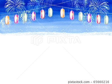 등불 축제 여름 축제 수채화 일러스트 65660216